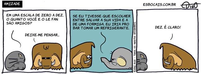 ML #85   Amizade vida tirinha salvar refrigerante mamute gato elefante bar amizade amigo