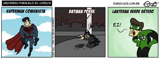tirinha superman pobre lanterna verde heterossexual gay comunista batman