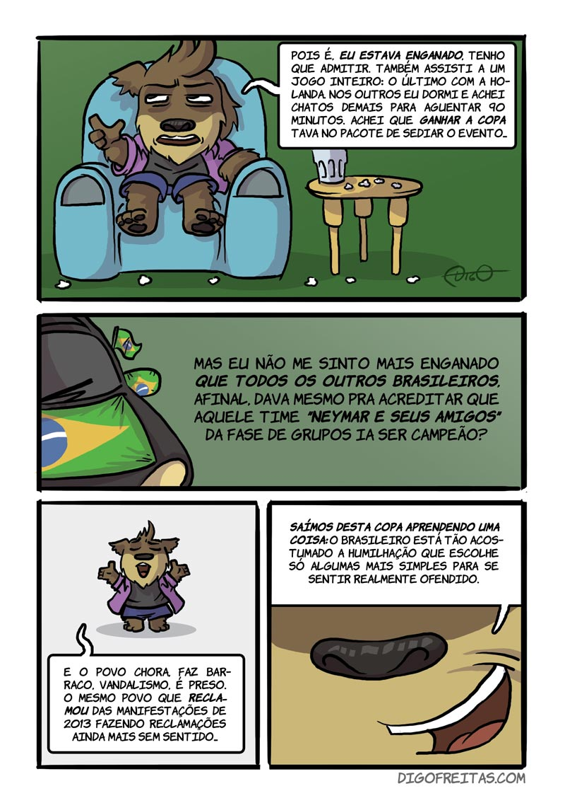 Brasil Rumo a Quê? Pág. 5 |  ( 2014, brasil, copa, futebol, naovaitercopa, Tirinhas, vaitercopa)