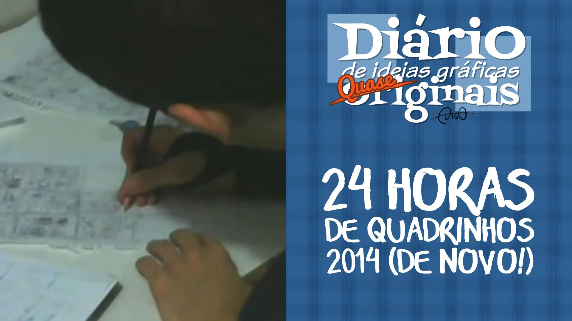 Meu Segundo 24 Horas de Quadrinhos de 2014    ( 24horasdequadrinho, 24hourcomicsday, ao vivo, desenhando, processo, quadrinhos, vídeo)