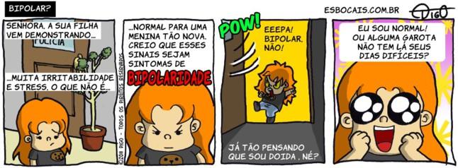 Bibi #5 – Bipolar? |  ( bipolar, delegado, garota, mãe, menina, policia, tirinha, Tirinhas)