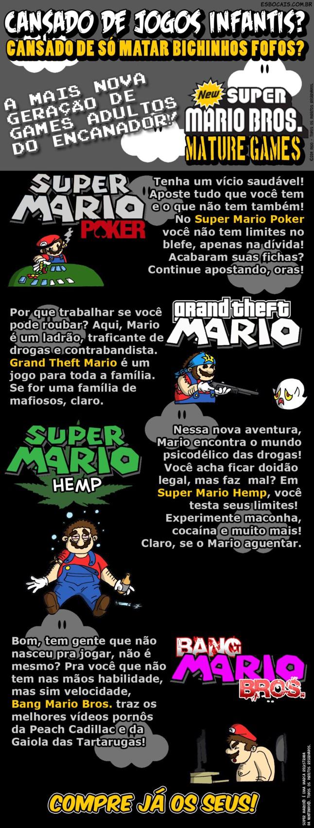 MLQC #13 – New Super Mario Bros. Mature Games |  ( bang, bros, games, gta, hemp, mario bros., mature, new, peach, poker, super, Tirinhas)