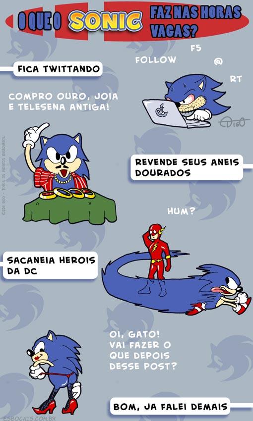 MLQC #14 – O que o Sonic faz nas horas vagas? |  ( anel, flash, horas, marvel, ouro, sonic, Tirinhas, twitter, vagas)
