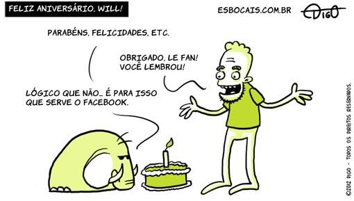 Especial #28 – Feliz aniversário, Will!    ( aniversario, bolo, parabéns, Tirinha, Tirinhas, will leite, willtirando)