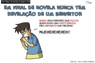 Outros #33 – Em final de novela nunca tem |  ( basica, benfeitor, cesta, final, novela, nunca, tirinha, Tirinhas)