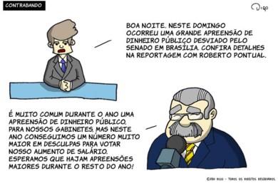 Outros #34 – Contrabando |  ( apreensao, aumento, brasilia, deputado, dinheiro, gabinete, jornal, publico, salário, tirinha, Tirinhas)