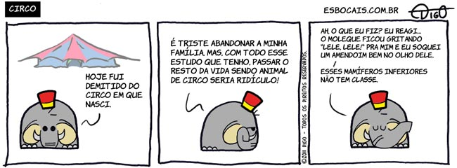 Mamu & Le Fan #50 – Circo |  ( amendoim, circo, elefante, família, Tirinhas)