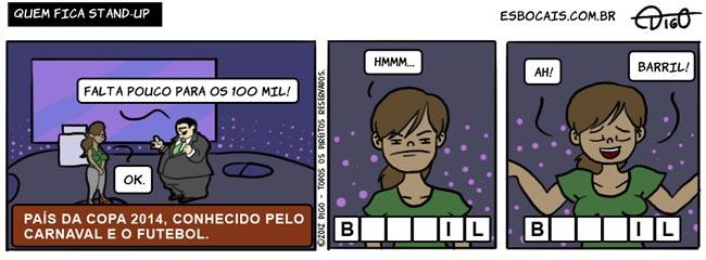 SS #50 – Quem fica stand-up |  ( 2014, band, barril, brasil, carnaval, copa, datena, futebol, programa, Tirinha, Tirinhas)