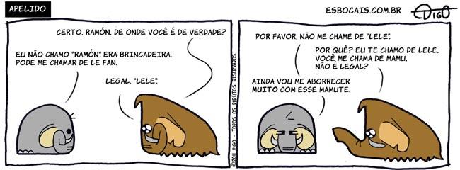 Mamu & Le Fan #58 – Apelido |  ( apelido, elefante, mamute, nome, Tirinhas)