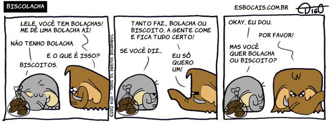 Mamu & Le Fan #76 – Biscoilacha |  ( biscoito, bolacha, elefante, mamute, rio de janeiro, sao paulo, Tirinha, Tirinhas)