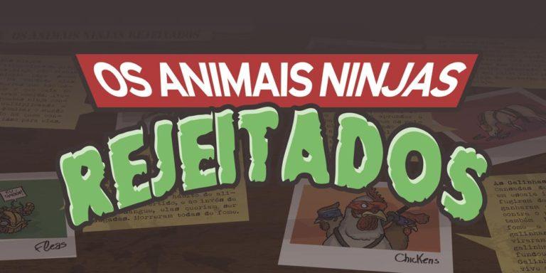 Os Animais Ninjas Rejeitados |  ( cavalo, galinha, mutant, mutantes, ninja, pomba, pulga, tartarugas, teenage, turtles)