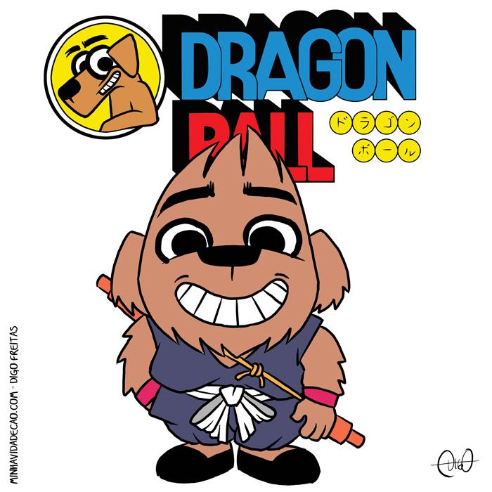Minha Vida de Cão – Dragon Ball |  ( animê, cachorro, cão, dragon ball, goku, pequeno, Tirinha, Tirinhas)